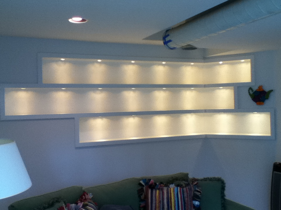 Recessed shelves are a great way to display collectibles - Other Projects - Vandergriff Wood Products